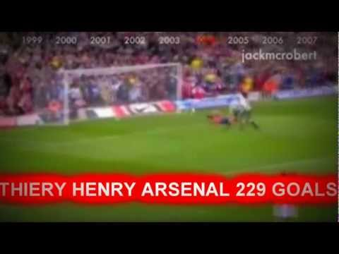 Thierry Henry - 229 Goals For Arsenal In 14 Minutes video