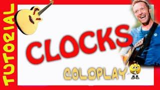 Como tocar CLOCKS en guitarra acustica