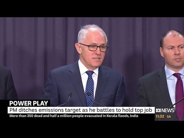 The NEG rebellion Malcolm Turnbull dumps emissions targets from energy policy