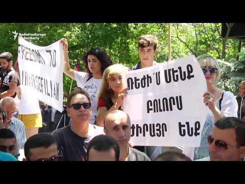 Armenian Protesters Call For Release Of Opposition Activists