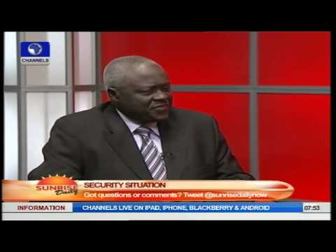 Sunrise Daily: Gen. Martin-Luther Agwai (RTD) Speaks On Security In Nigeria PT2