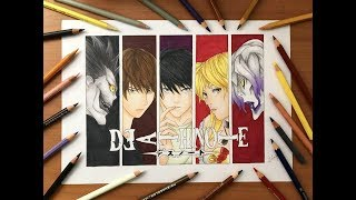 Speed Drawing - Death Note Characters (Death Note) [HD]