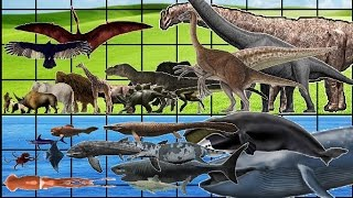 ALL Animals, Dinosaurs & Sea Monsters SIZE COMPARISON