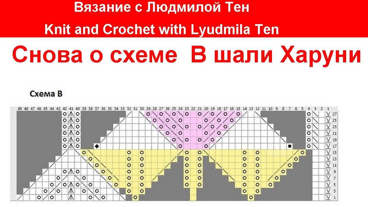 Вязание шали Харуни в подробном мастер-классе с описанием 44
