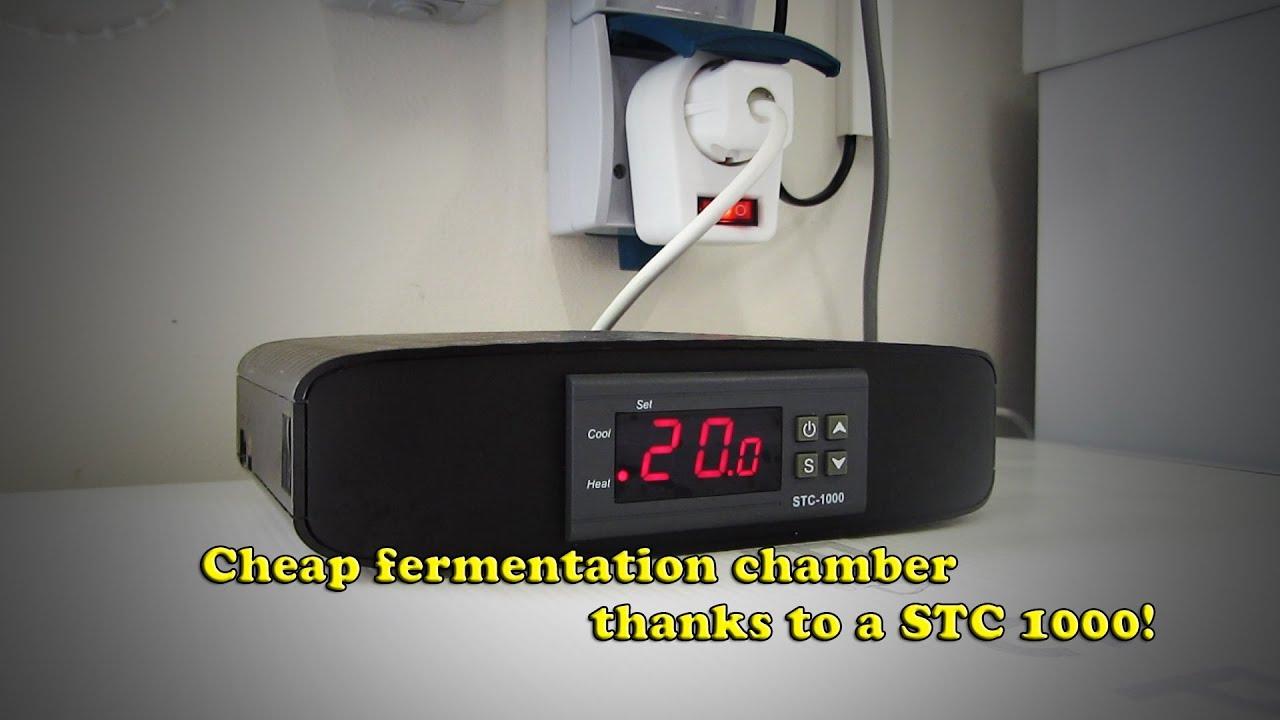 Cheap fridge   STC1000 = Fermentation chamber!   #B8B513