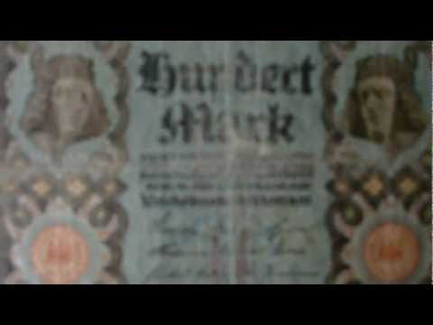 100 Mark - alte Reichsbanknote in HD