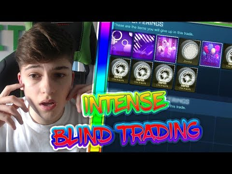 INTENSE BLIND TRADING! | BLIND TRADING WITH FANS | Rocket League