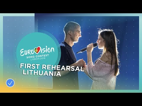 Ieva ZasimauskaitÄ— - When We're Old - First Rehearsal - Lithuania - Eurovision 2018