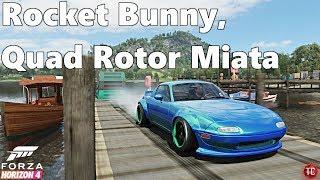 Forza Horizon 4: QUAD ROTOR, Rocket Bunny Miata!! Drift Build