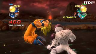 Dragon Ball Z Ultimate Tenkaichi - Goku vs Frieza Gameplay HD