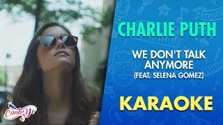 Charlie Puth - We Don't Talk Anymore (Karaoke) | CantoYo