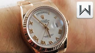 Rolex Day-Date 36 Everose (118235) Luxury Watch Review