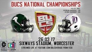 LIVE British American Football - BUCS National Championships from Sixways Stadium