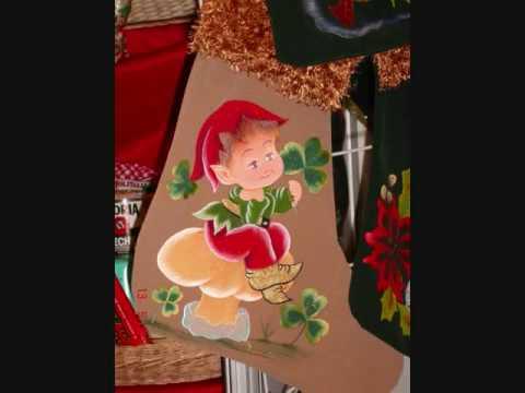 Manualidades navidenas en tela 0001 youtube - Manualidades con papel navidenas ...