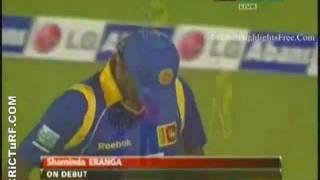 Lasith Malinga 5 wickets for 28 vs Australia in Hambantota 16/08/2011