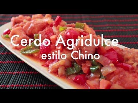 Cómo hacer Cerdo Agridulce  VALE POLLO - Recetas de comida china