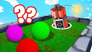 TNT vs. GOLF BALLS TROLL! (Golf It)