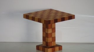 Table Minecraft - real wood cubes