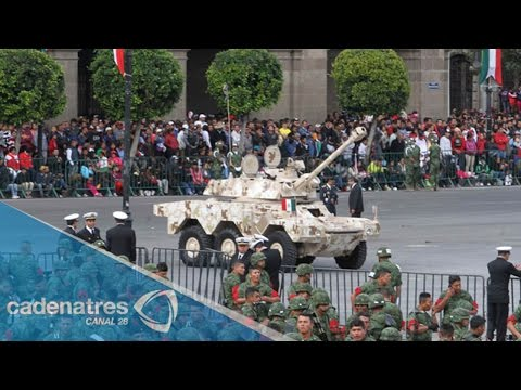 VIDEO: Desfile militar del 16 de septiembre 2014