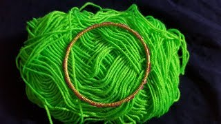 Hand Embroidery Beautiful // Bangles Trick Wool Flower Design