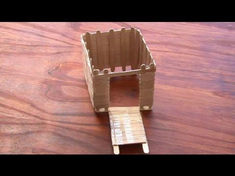 Como hacer una maqueta de una casa con palitos de madera