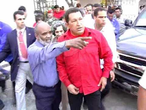 Chavez Visit's Haiti