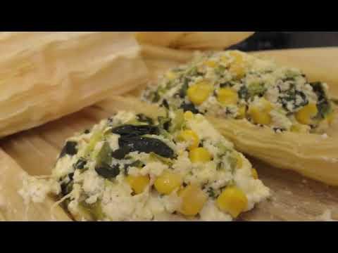 Tamales de Elote con Requesón (Ricotta) y Rajas♥Recetas Saludables♥Las Recetas de Laura