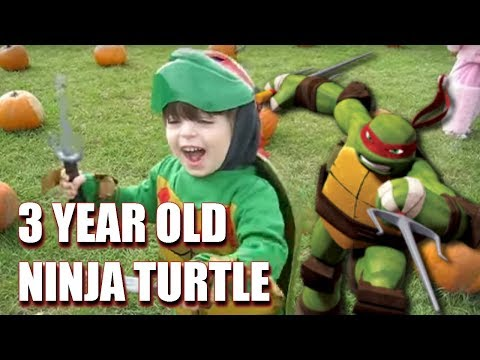 Adorable 3-year-old as Raphael (Teenage Mutant Ninja Turtles) - Halloween Costume