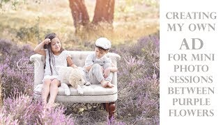 Creating an ad for my Mini Sessions - Making your own Photoshoot Advertisement