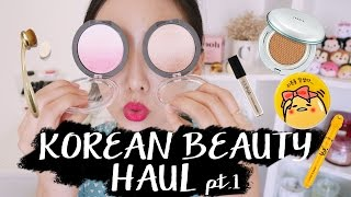 韓國美妝血拚紀錄(上)KOREAN BEAUTY HAUL: FOUNDATION, CUSHION, LIPSTICK & MORE part I