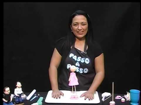 Boneca magrela vestido EM BISCUIT