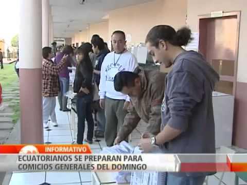Todo listo en Ecuador para elecciones presidenciales este domingo