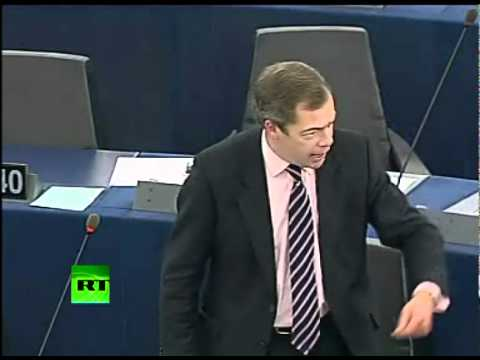 'Who the Hell You Think You Are?' Nigel Farage throws egg in Eurocrat faces