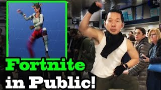 Download Lagu FORTNITE DANCES IN PUBLIC!  In Real Life Challenge! (Best Mates, Take The L) Gratis STAFABAND