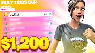 We Placed FIRST in the Daily Trios Cup! ($1,200) | Bugha