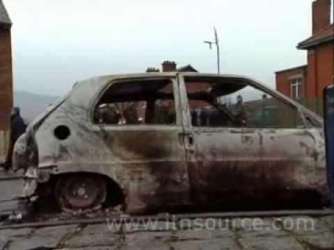 Northern Ireland Holy Cross Dispute 2001 Footage video