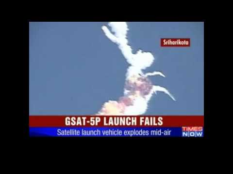 Epic Failure - indian Satellite Launch Vehicle Explodes [HQ]