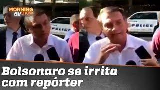 Bolsonaro para repórter da Folha: vocês têm que entrar de novo na faculdade