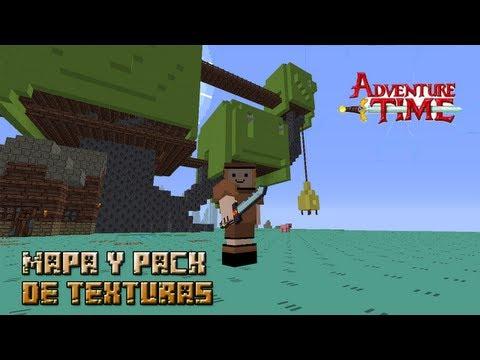 Minecraft 1.5.2/1.7.2   MAPA DE HORA DE AVENTURA + RESOURCE PACK!!!
