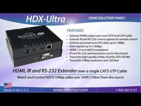 HDX-Ultra - HDMI, IR and RS-232 Extender over a single CAT5 UTP Cable