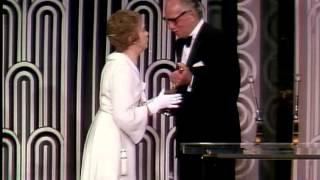 Lillian Gish receiving an Honorary Oscar®