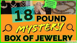 HUGE MYSTERY JEWELRY BOX UNBOXING | 18 POUND GOODWILL JEWELRY BOX Opening Unjarring Reveal tiny GOLD