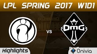 IG vs OMG Highlights Game 1 LPL Spring 2017 W1D1 Invictus Gaming vs OMG