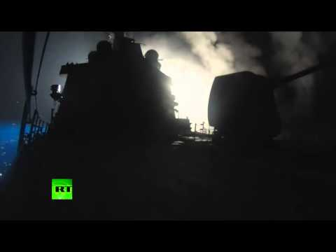 US Navy ships launch cruise missiles at Syria