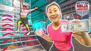 $10,000 NINJA WARRIOR CHALLENGE!!