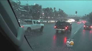 Storm Produces Rain, Snow In Areas Of Southern California