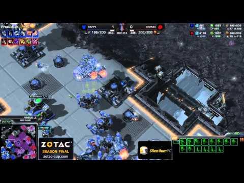 Rewanż - ZvT Dimaga vs Happy g2 - Nimbus- Starcraft 2 HD Polski komentarz