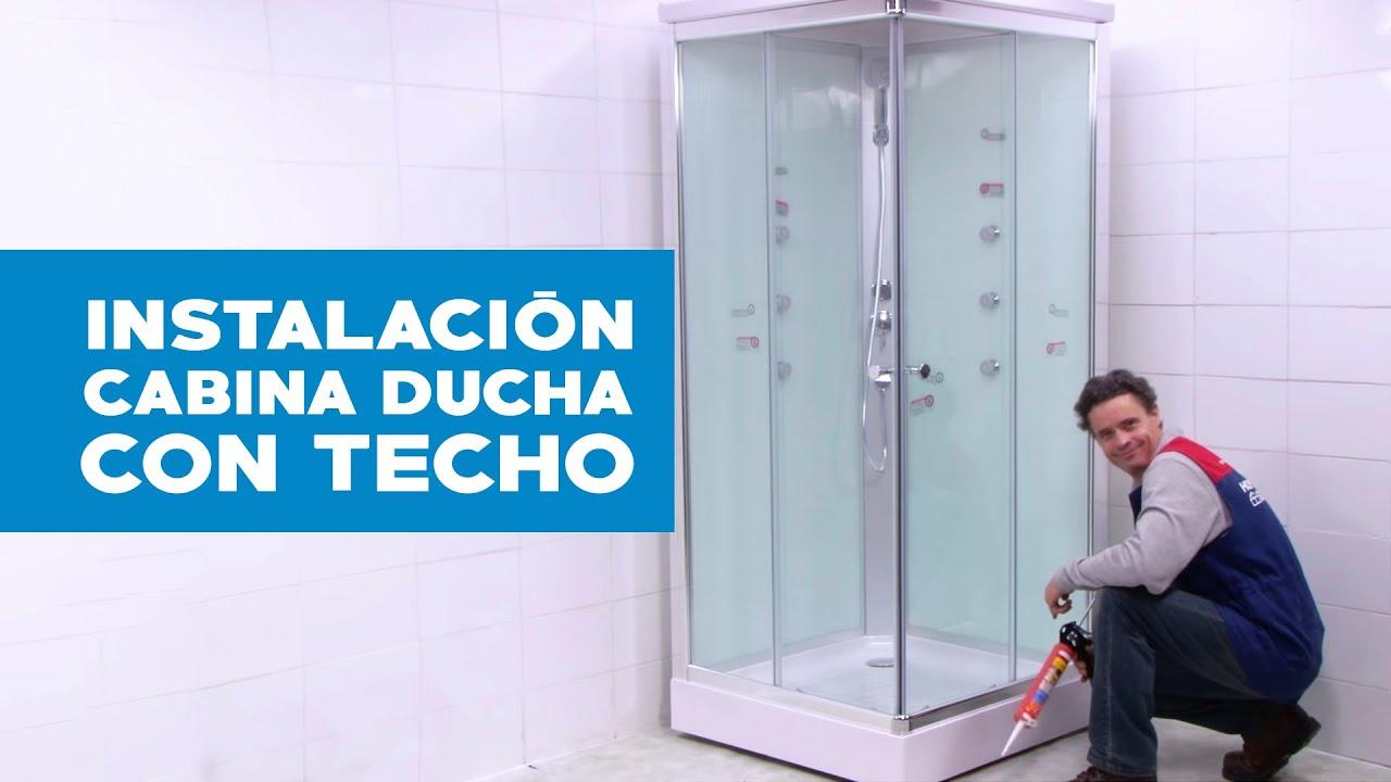 Mamparas Para Baño Sensi Dacqua:Cómo armar e instalar tu Cabina Ducha con Techo 90 x 90 cm