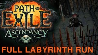 Path of Exile Ascendancy Preview - Labyrinth Full Run