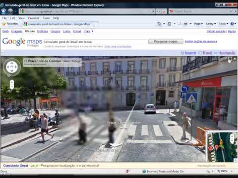 How to navigate the google maps Street View - Como navegar no Google mapas